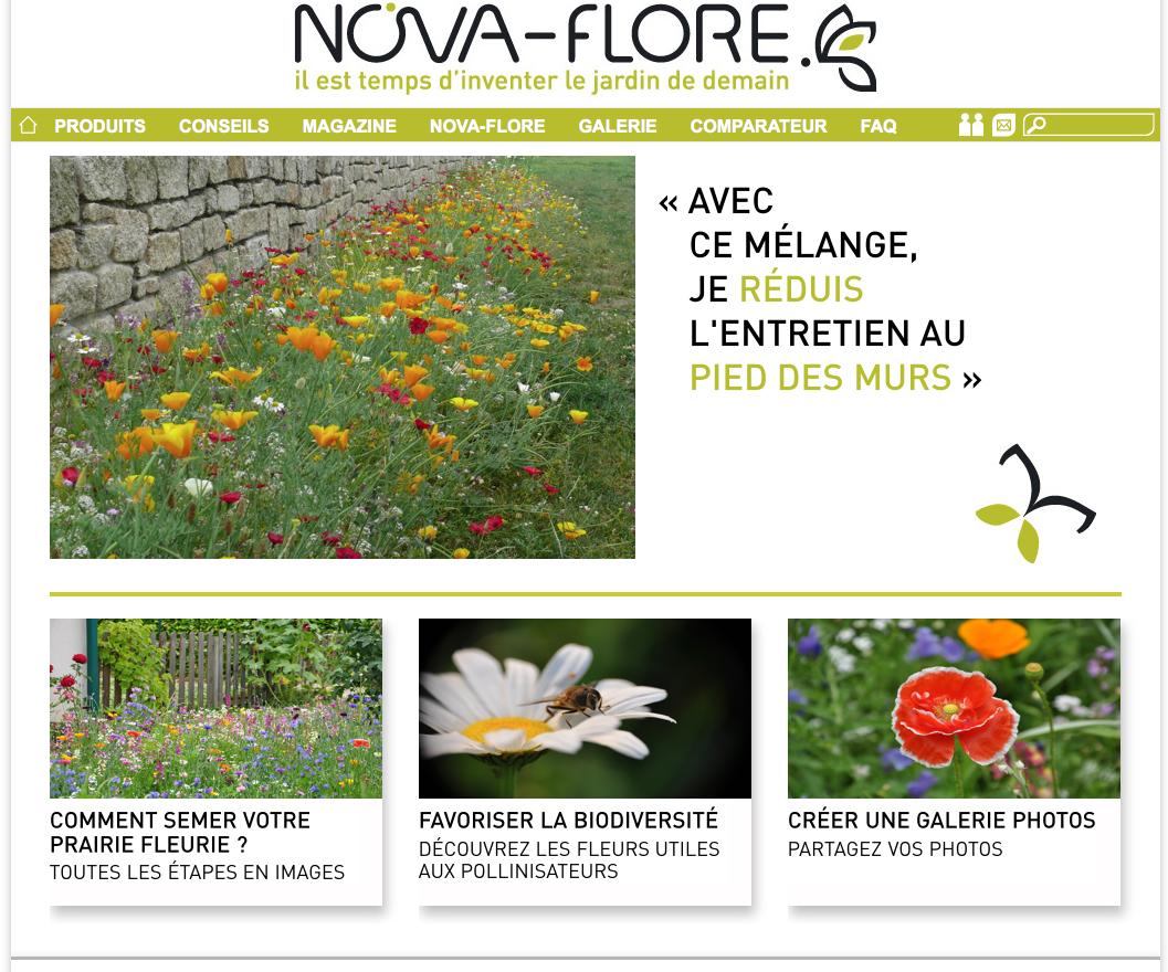 Capture d'écran site Prairie Fleurie