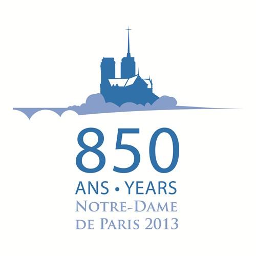 Logo 850 ans Notre-Dame de Paris 2013