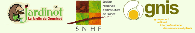 Logos SNHF, Jardinot et GNIS