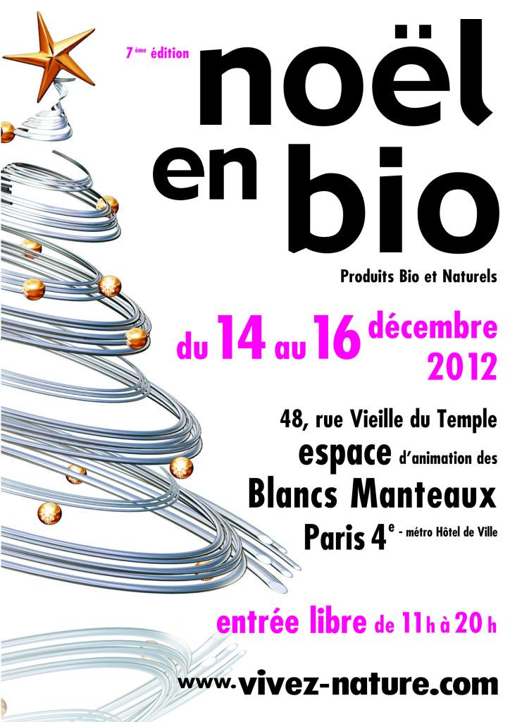 Affiche du salon Noël en bio du 14 au 16 décembre 2012