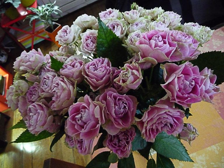 Bouquet de petites roses doubles