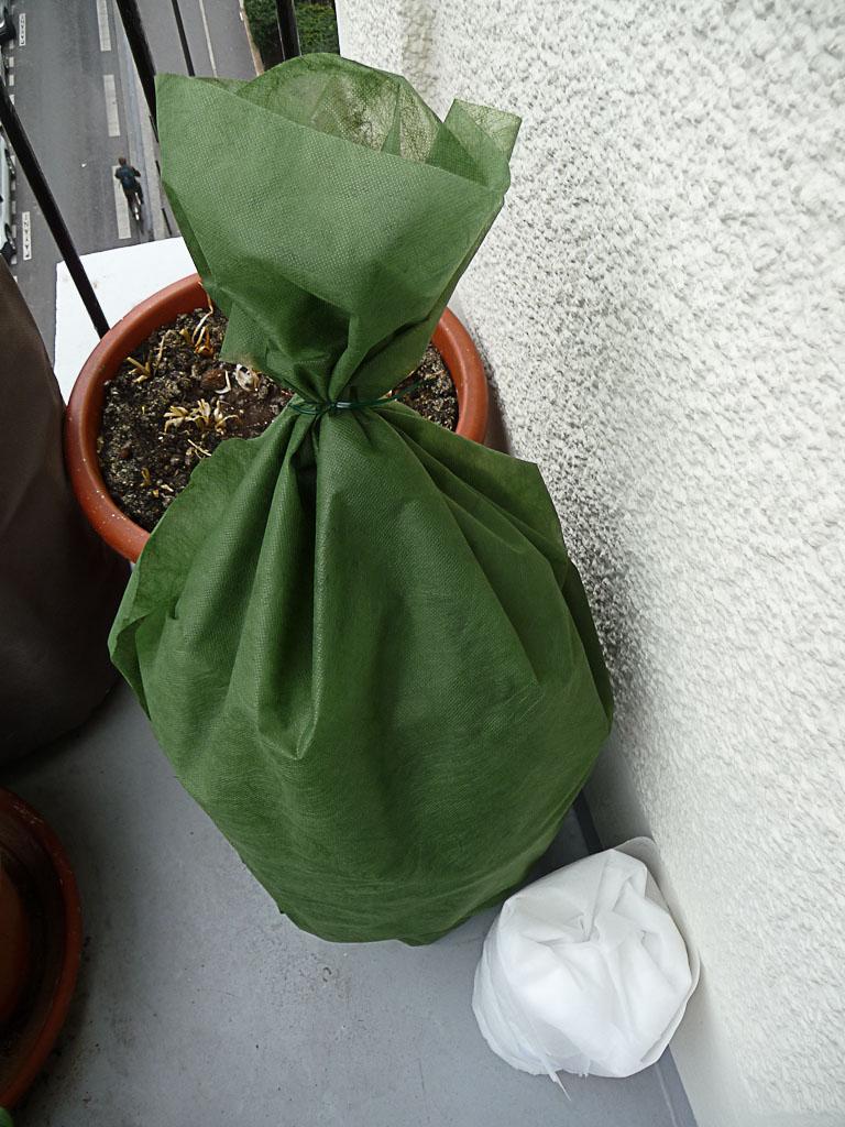 Protections hivernales sur mon balcon en hiver, Paris 19e (75)