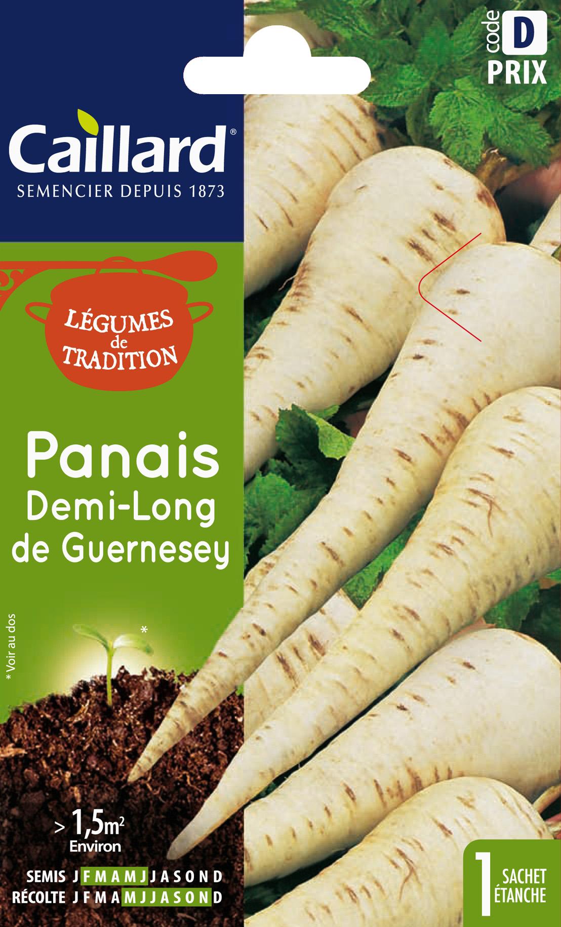 Légumes de tradition : graines de panais demi-long de Guernesey, Caillard