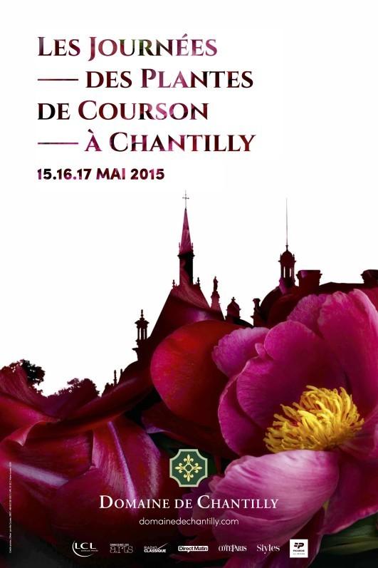 Affiche des Journées des Plantes de Courson à Chantilly, mai 2015