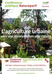 """Conférence """"Agriculture urbaine, vers une réconciliation ville-nature"""", Natureparif, Paris (75), mars 2015"""