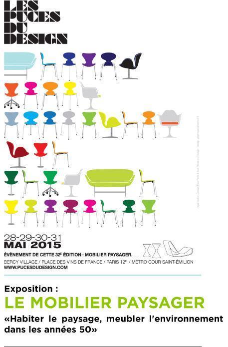 Les Puces du Design, mobilier paysager, Paris (75), mai 2015