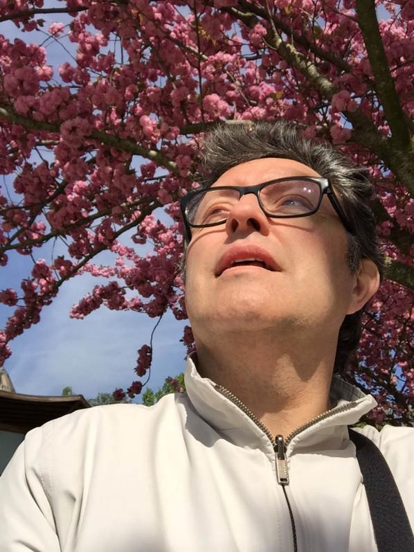 Autoportrait (selfie) d'Alain Delavie, Paris 12e (75), 18 avril 2015, photo Alain Delavie