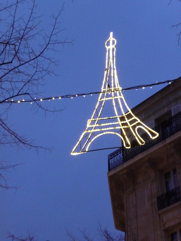 Illuminations dans la rue Saint-Charles, Paris 15e (75)