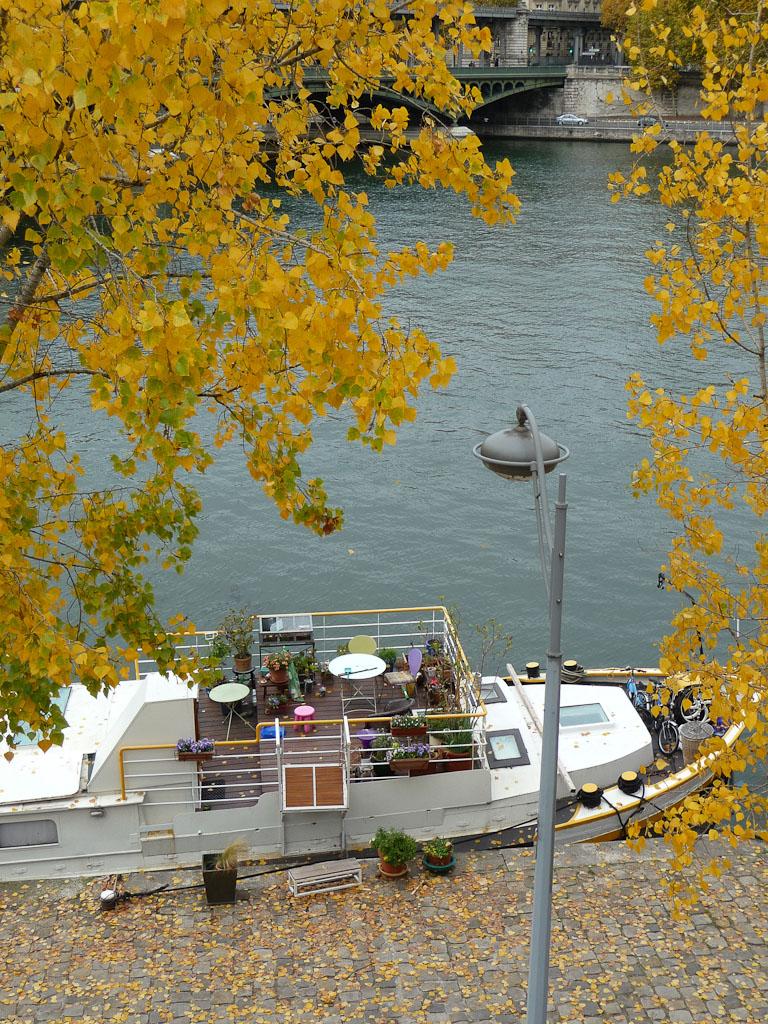 Terrasse sur un bateau dans Paris