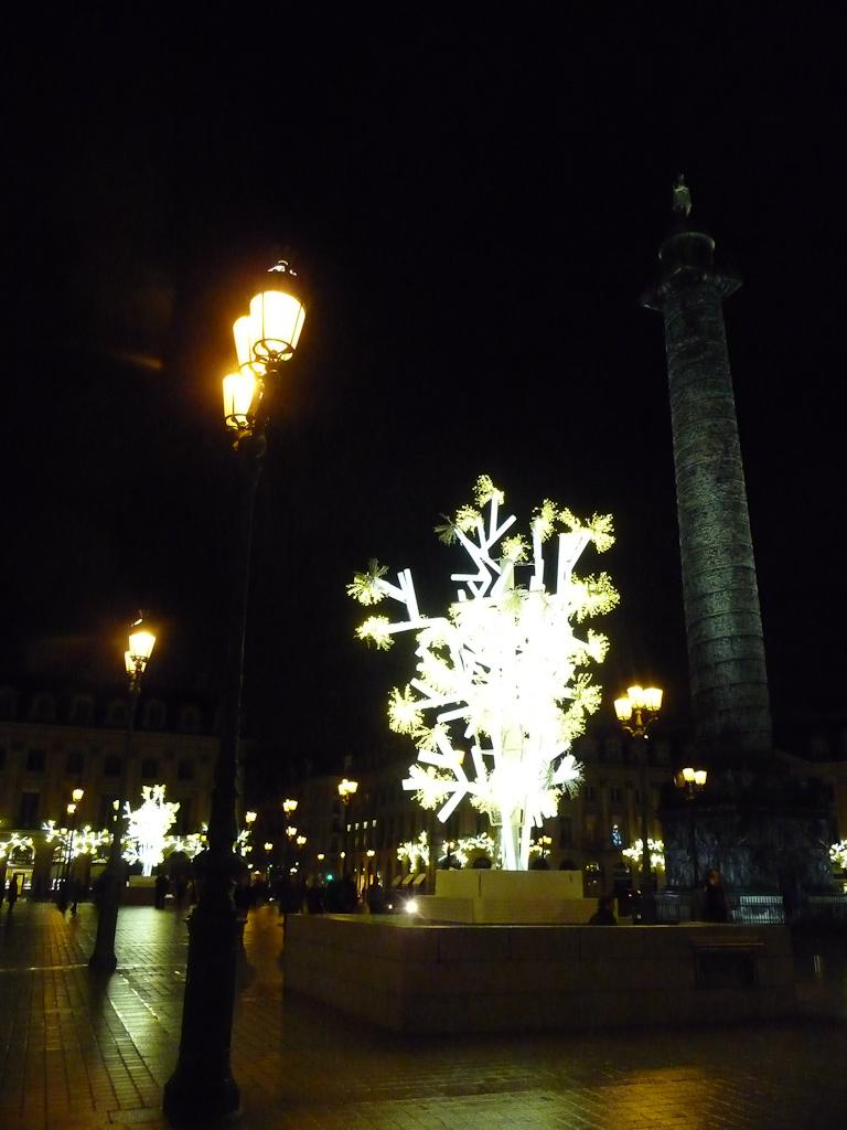 Illuminations sur la place Vendôme, Paris 1er (75)