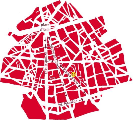 Parcours du défilé du Nouvel an chinois dans le 13e arrondissement de Paris
