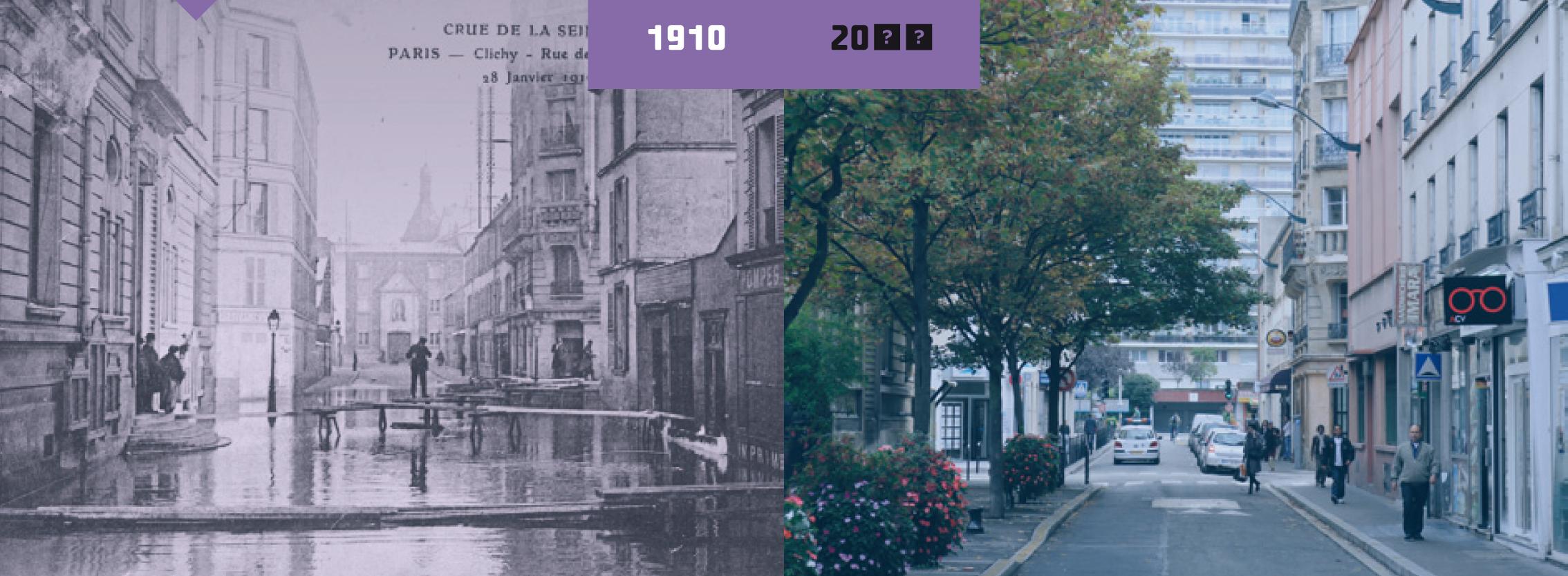 Clichy en 1910 et un siècle plus tard