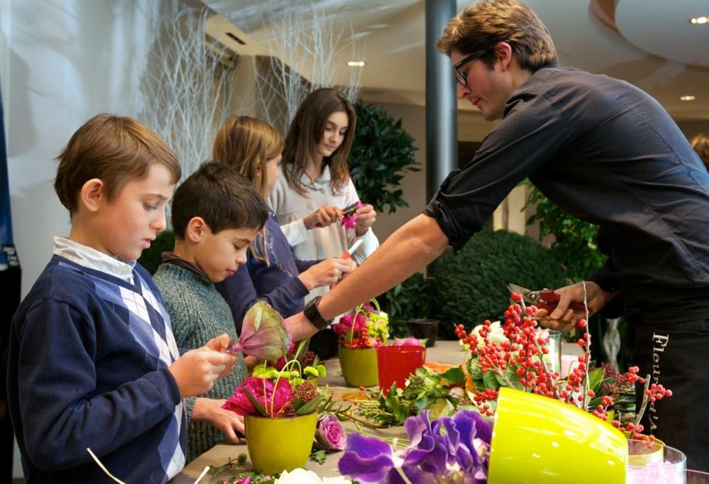 Formation destinée aux enfants : art floral