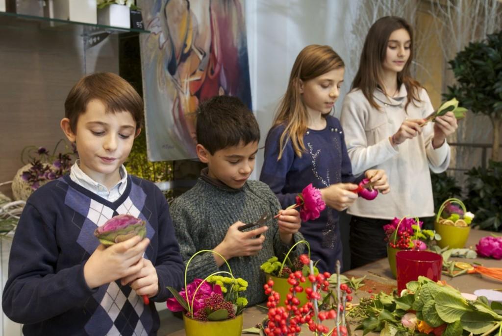 Formation destinée aux enfants : cours d'art floral