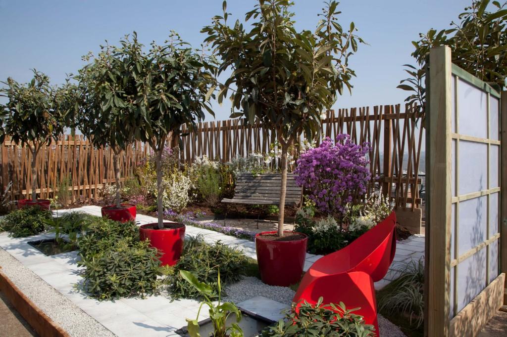 """Prix de la Ville de Suresnes : Bizot Père & Fils et Canopées, """"Jardin des villes, jardin des champs"""", salon Jardins en Seine 2012, photo Verteam"""