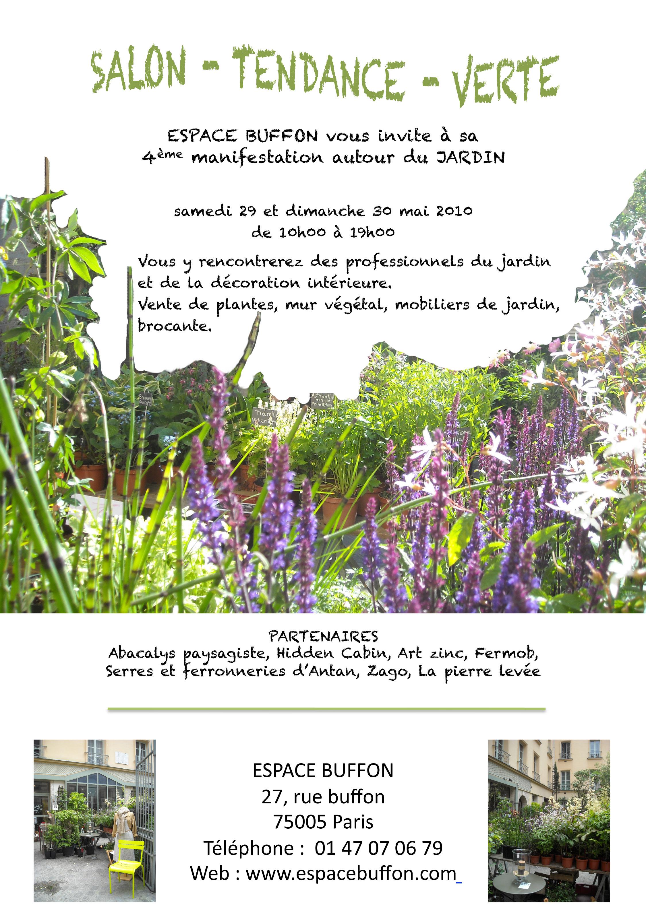 Salon tendance verte l espace buffon paris c t jardin for Salon de jardin ile de france
