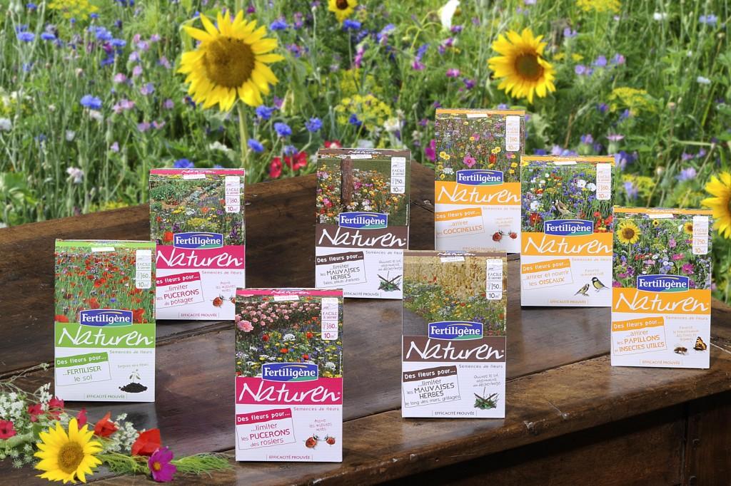 Gamme de mélanges fleuris FLORATHERAPY de Fertiligène Naturen
