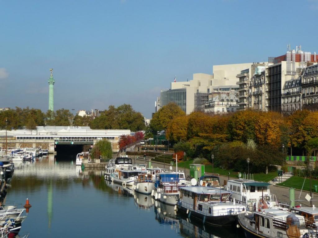 Port de l'arsenal en automne (Paris, 75), photo Alain Delavie