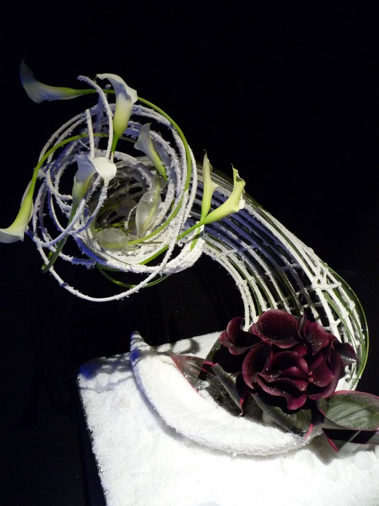 Roses et bouquets, Art floral de Noël, création de Laurence Perez et Anne-Yvonne Bureau, photo Alain Delavie