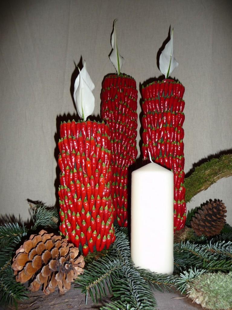 Art floral de Noël par Bruno Lamberti, exposition Tempête de neige à la SNHF, décembre 2009, photo Alain Delavie
