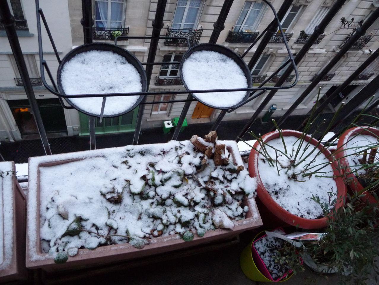 Mon balcon en hiver