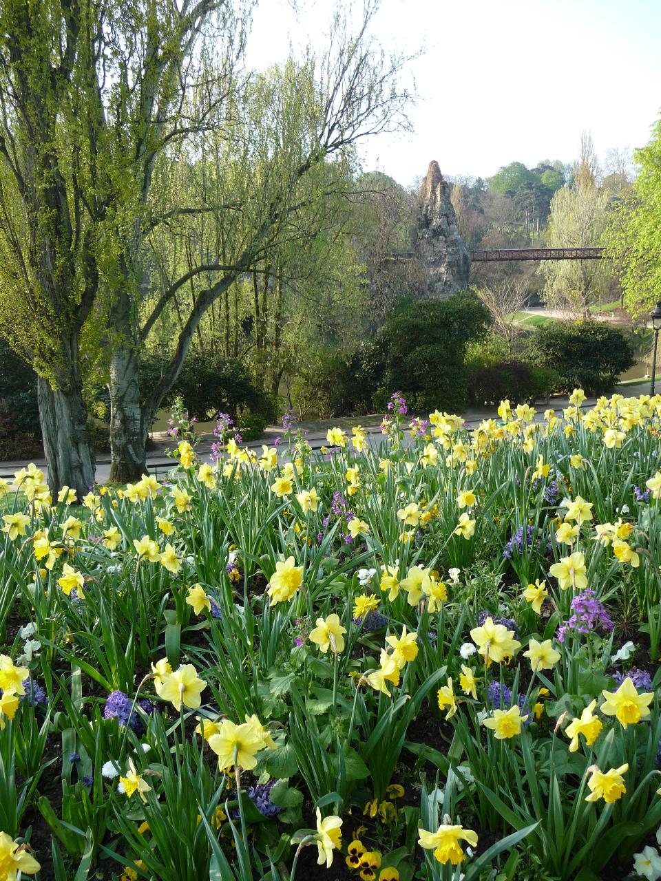 Le printemps dans les jardins de Paris