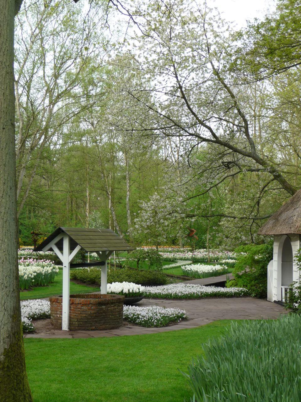 Floraisons printanières pastel dans le parc de Keukenhof en Hollande
