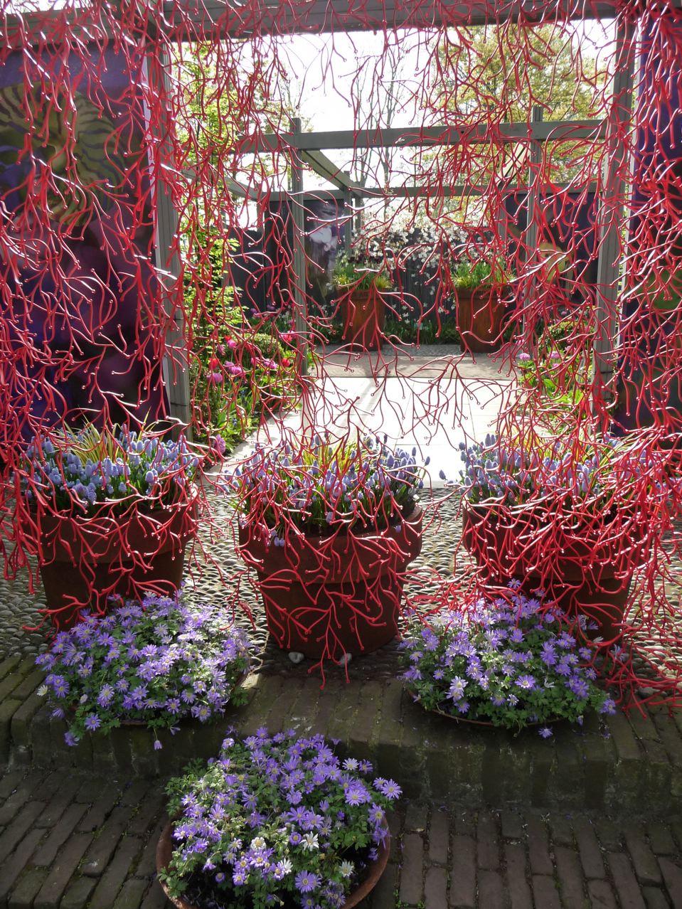 Les jardins d'inspiration dans le parc de Keukenhof en Hollande