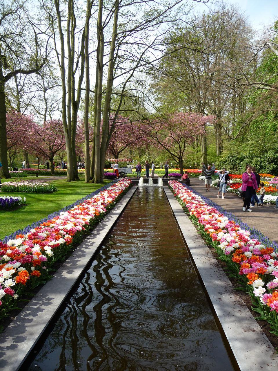 Le parc de Keukenhof au printemps