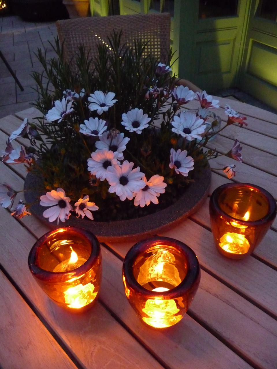 Bougies pour une chaude soirée d'été
