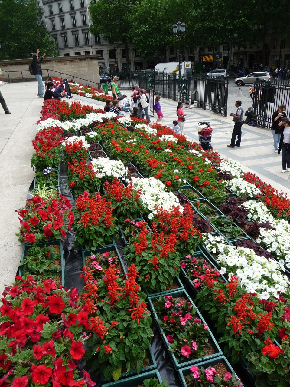 Escalier fleuri de la Madeleine à Paris (75)