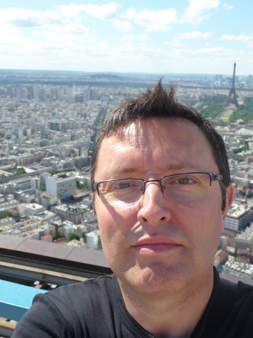 Autoportrait sur la Tour Montparnasse, juillet 2010