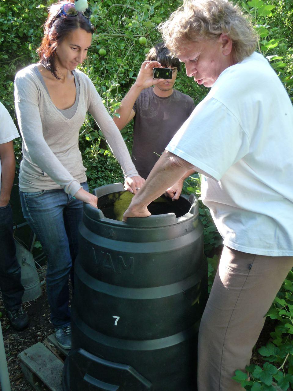 Recyclage des déchets organiques ménagers : fût à compost
