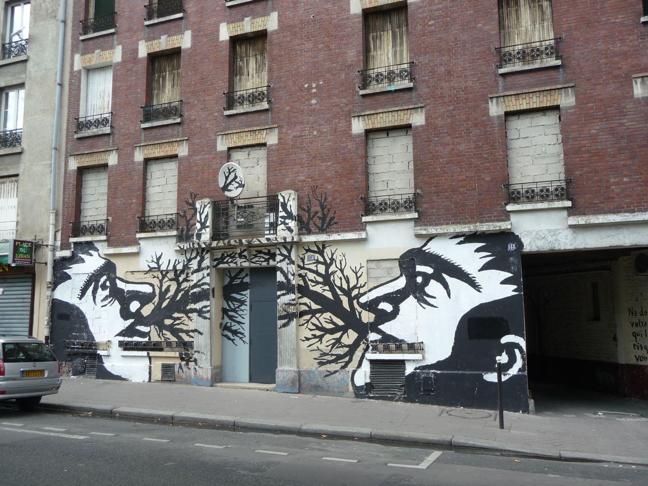 Tags et graffitis dans Paris