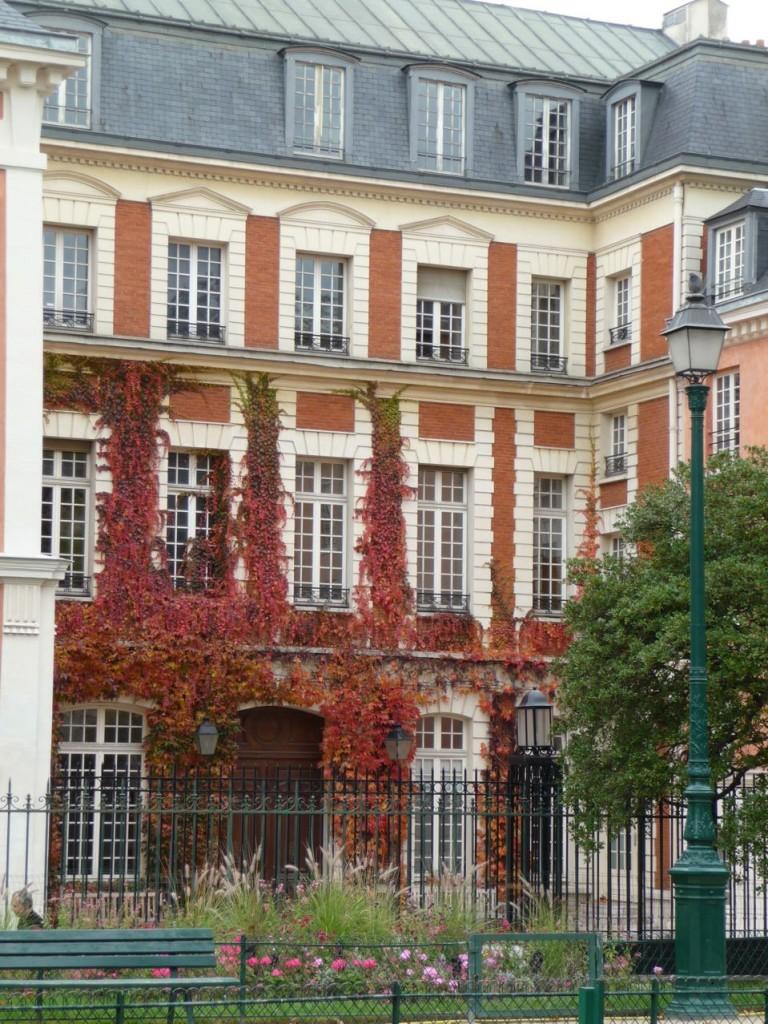 Feuillage d'automne dans le Marais, Paris 3e (75)