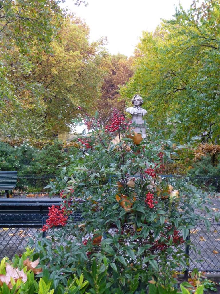 L'automne dans les jardins parisiens