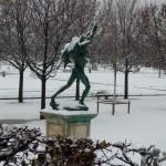 Chute de neige sur Paris