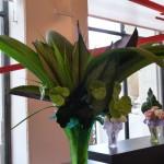 Bouquet réalisé par Shogo Kariyazaki dans un vase Daum