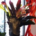 Bouquet exotique dans un vase Daum