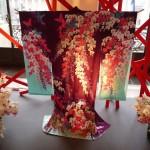 Kimono en soie brodé