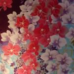 Détail d'un kimono en soie brodé
