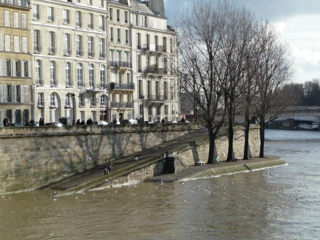 Ile Saint-Louis et Seine en crue, Paris 4e (75)