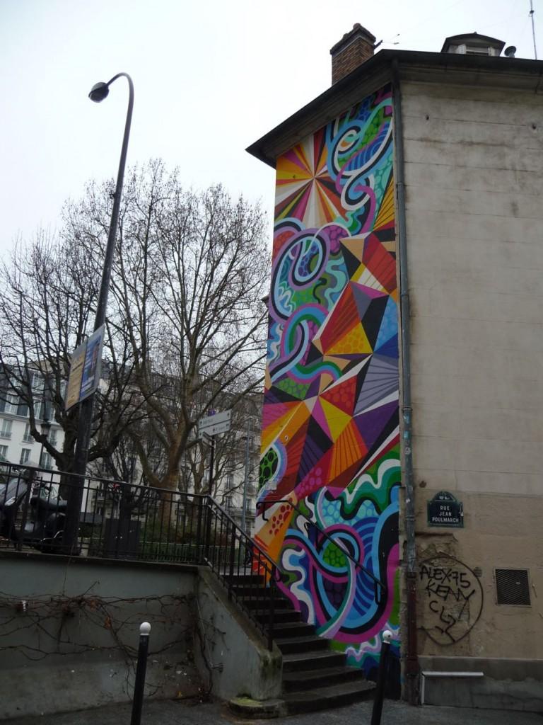 Art de la rue : fresque dans Paris