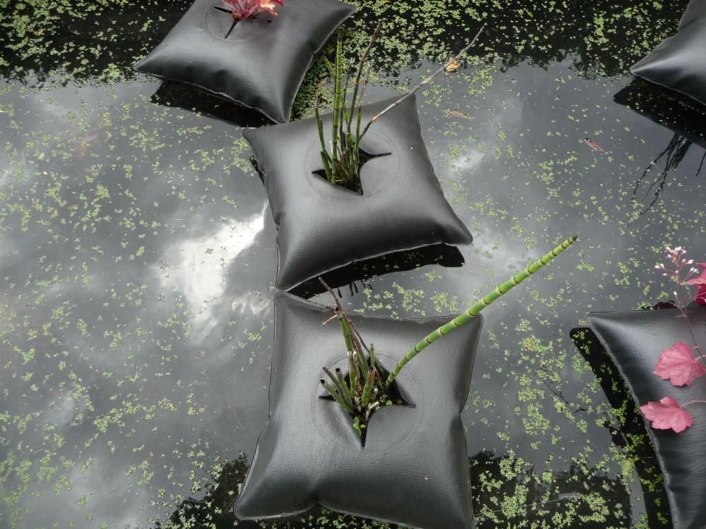 Prêle dans un Green Pillow, création Alexis Tricoire / Agence Art Terre, Jardins Jardin 2011, Jardin des Tuileries, Paris 1er (75)