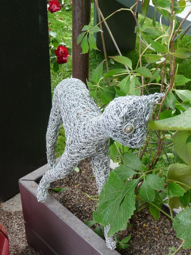 Sculpture de métal, création Claude Pasquer