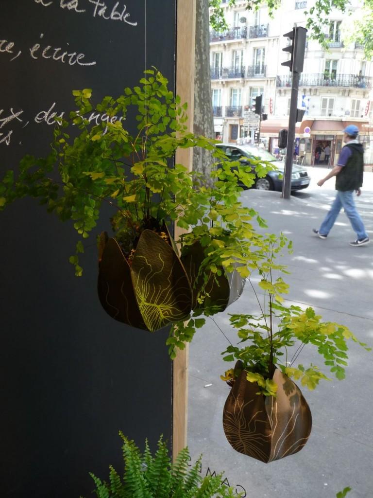 "JARDIPO RACINE, pot et cache pot ecodesign, ""Re"" by Art Terre, Gambs Seconde Nature, Paris 11e (75)"