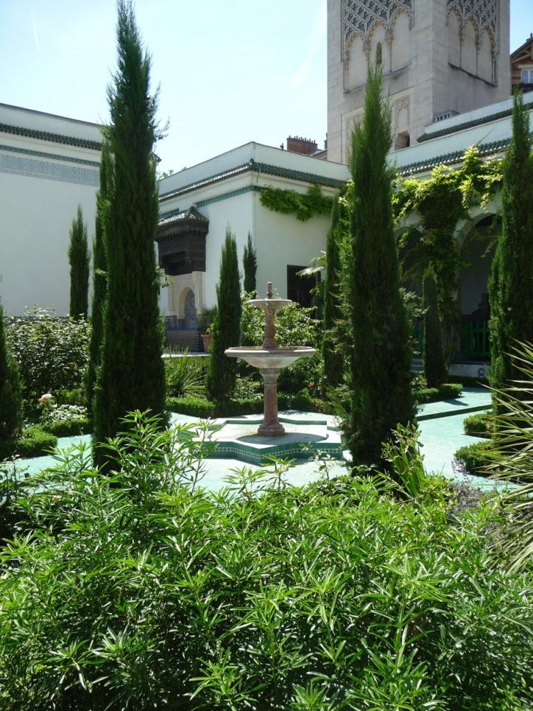 Le jardin à l'Andalouse de la Grande Mosquée, Paris 5e (75)