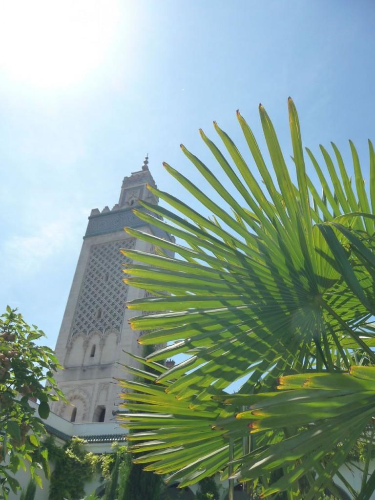 Le minaret de la Grande Mosquée, Paris 5e (75)