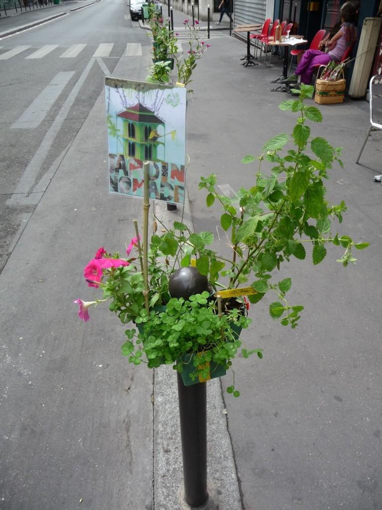 Potogreen dans la rue Montmartre, Paris 2e (75)