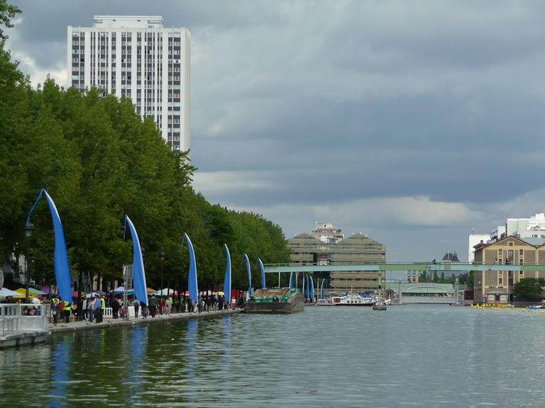 Paris Plages le long du Bassin de la Villette, Paris 19e (75)